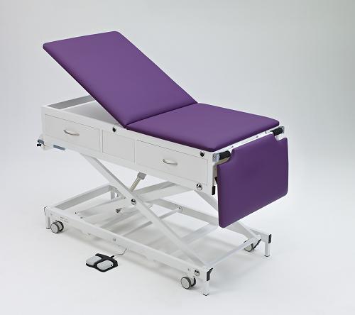 Habru onderzoeksbank MMEL-V (centraal geremde wielen, korte rug, elektrisch) incl. voetenlade