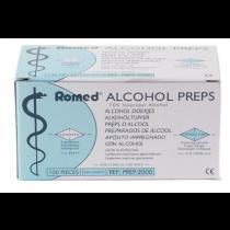 Alcohol prep Romed 65x30mm 2lgs