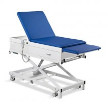 Habru onderzoeksbank MME-V (wiel/poot verstel, lange rug, gasveer) incl. voetenlade