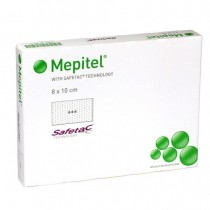 Silicone verband Mepitel one adh. 8x10cm -s-