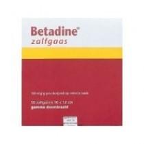 Desinfectie zalfgaas Betadine 10x10cm -s- *UAD
