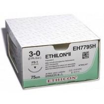 Ethilon II usp4/0 45cm FS-2S zwart EH662SLH