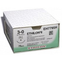Ethilon II usp2/0 45cm FS-1 blauw EH7826H