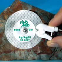 ECG Elektrode non-woven 50mm Solid Gel drukknop